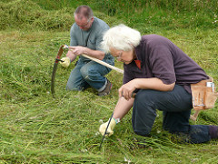 safe scythe sharpening in the field